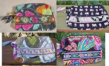 VERA BRADLEY Small Cosmetic Bag Jazzy Blooms Portobello Road FREE SHIPPING
