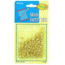 """Packs of 240 Brass Safety Pins 7/8"""""""