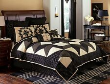 Farmhouse Black & Tan Patchwork Star Carrington Bedding Set by Park Designs