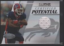 C.J. CJ SPILLER 2010 10 CERTIFIED ROOKIE MIRROR JERSEY PATCH RC BILLS /250 $12