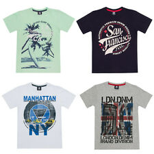 Boys Infants and Childs Cargo Bay Printed Crew Neck T-Shirt. Age 2 - 13 Years