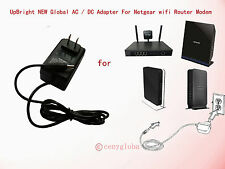 AC Adapter For Netgear Dual Band Wireless Cable Router Modem 12V DC Power Supply