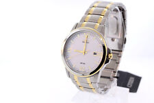 Men's Citizen BM7264-51A Eco-Drive Two-Tone Stainless Steel White Dial Watch