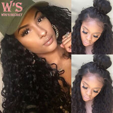 Deep Curly Human Hair Wig Lace Front Wigs For Black Womens 13*4 Frontal Lace 1B