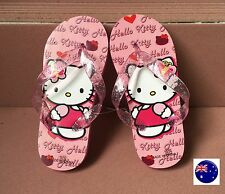 Girl Kids Child Hello Kitty Pink Slippers Thongs Flip Flop Sandals shoes Gift