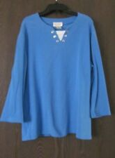 WOMENS MISSES STUDIO WORKS 3/4 SLEEVE SHIRT COLOR TURQUOISE SIZE LARGE