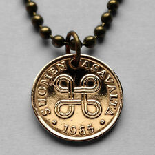 Finland Penni coin pendant Finnish necklace Saint Hannes cross Helsinki n001551