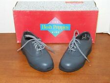 Hush Puppies Lil Jefferson Pewter Leather Dress Shoes Toddler