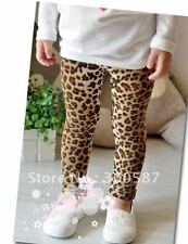 Baby Kids Girls children Toddlers Funky Halloween Leopard Print pants leggings