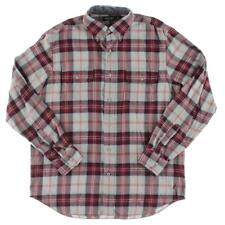 Nautica Mens Flannel Plaid Button-Down Shirt