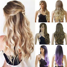 Fashion Women Full Wig Long Straight Curly Heat Resistant Synthetic Cosplay Wigs
