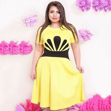 Women Plus Size Evening Party Cocktail Ladies Casual Summer Maxi Dress L-5XL New