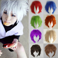 Unisex Anime Full Wig Pixie Short Hair Cosplay Costume Synthetic Fiber Hairpiece