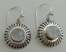 Rainbow Moonstone Solid Silver, 925 Bali Handcrafted Earring 27309