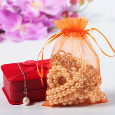 100 PCS  Luxury Wedding Party Candy Favour Organza Gift Bags Jewellery Pouches