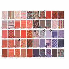 Decopatch Decoupage Printed Paper Red/Violet Patterns