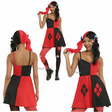 Suicide Squad DC Comics Harley Quinn Elevated Costume Cosplay Strap Dress S-XL