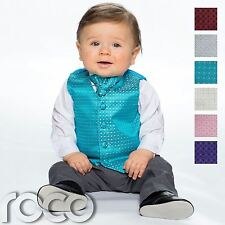 Baby Boys Waistcoat Suit, Page Boy Suits, Grey Trousers, Diamond Pattern