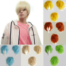 Fashion Anime Wig Short Hair With Bangs Heat Resistant Synthetic Wigs Cosplay jk