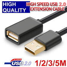 1M 2M 3M 5M USB 2.0 High Speed Extension Cable Male to Female Super Speed Cable