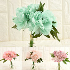 Silk Flower Bridal Hydrangea Artificial Fake Peony Home Wedding Garden Decor U87