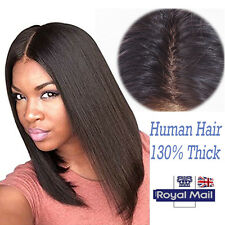 High Quality Brazilian Virgin Human Hair Wig Straight Wave Lace Front/Full Lace