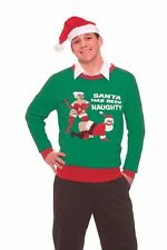Ugly Christmas Sweater Party Adult Humor Funny Naughty Santa Unisex Holiday