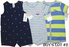 Lot Romper 3 Creeper Boys 1 Pc Summer Baby Clothes 12M Carters Bodysuit Outfits