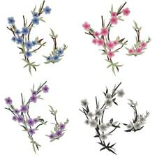 2pcs/Set Embroidered Floral Patches Collar Trim Sew on Cloth Applique Craft
