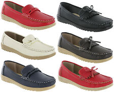 Amblers Moccasin Slip On Loafer Deck Flat Summer Holiday Casual Womens Shoes