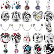 European 925 charms bead Fit UK sterling solid silver Bracelet Necklace Chain