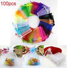 100pcs Organza Gift Candy Jewelry Bags Wedding Party Favor Decoration Pouches