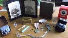 JOB LOT OF ANTIQUE/VINTAGE COLLECTABLES + CURIOS/SILVER/ROLLED GOLD 99p XCP 1