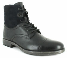 New Mens/Gents Black Lace Ups Boots UK SIZES