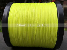 Fishing Line 100M 300M 500M 1000M Spectra Dyneema 100%PE Braid LINE Yellow Green