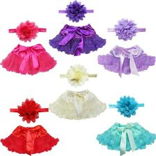 Cute Newborn Baby Girl Tutu Skirt & Headband Photo Prop Costume Outfit  0-12M