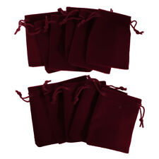 10 pieces Velvet Bags Wedding Party Gift Drawstring Jewelry Pouches 7 *9CM