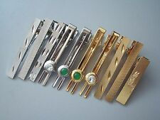 18K GP Yellow Gold Plated / Platinum Plated Tie Bar/Tie Pin/Tie Clip