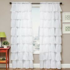 Softline Shaina White Rod Pocket Curtain Panel