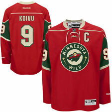 Mikko Koivu Minnesota Wild Reebok Men's Home Premier Jersey - Red - NHL