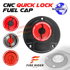 FRW BK/RD CNC Quick Lock Fuel Cap For Ducati Monster S4R S2R All Year 03