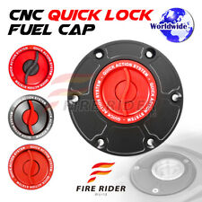 FRW Red CNC Quick Lock Fuel Cap x1 For Triumph Daytona 955i 98-06 01 02 03 04 05
