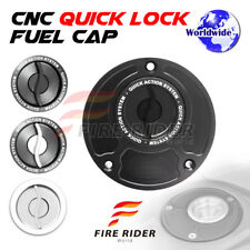 FRW BK/SI CNC Quick Lock Fuel Cap For Ducati Monster S4R S2R All Year 03