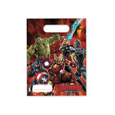 6 Age Of Ultron Loot Bags Childrens Marvel Comic Birthday Gift Party Bag