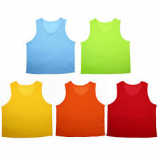 Children Youth Sports Breathable Soccer Bib Basketball Rugby Training Vest 6pcs