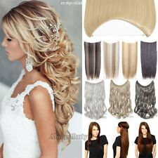 Secret Invisible Headband Wire Hair Extensions 1PCS Long Wavy Straight Brown Lmn