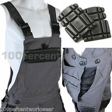Delta Plus Panoply M5SAL Mens Bib and Brace Overalls Dungarees + FREE Knee Pads