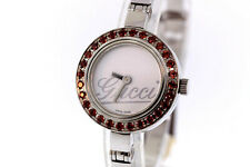 Ladies Gucci YA105534 Stainless Steel Bangle Bracelet White Dial Watch