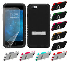 """RUGGED TRI-SHIELD SOFT SKIN HARD CASE STAND SCREEN PROTECTOR FOR iPHONE 6 (4.7"""")"""