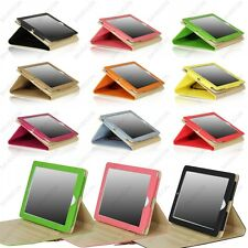For iPad 4 3 2 Buckle Button Belt Smart Leather Folio Case Cover Stand +Gift 001
